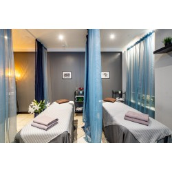 Hot stone massage for couple + a gift: spa for face  (2.p.) (1h 30 min)