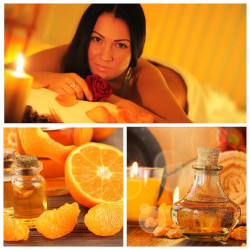 Orange SPA + warm orange feet massage.