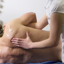 Sport massage for back.
